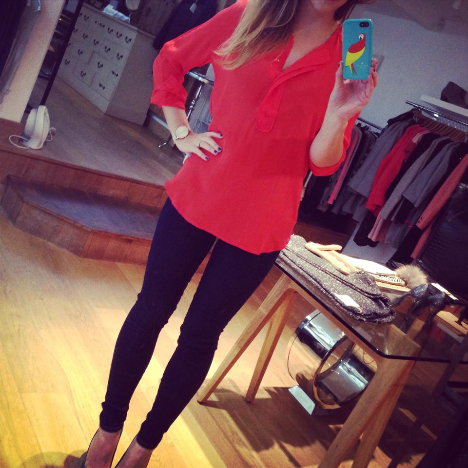 Navy And Grey Visual Merchandising Shop Display November: Outfit Of The Day