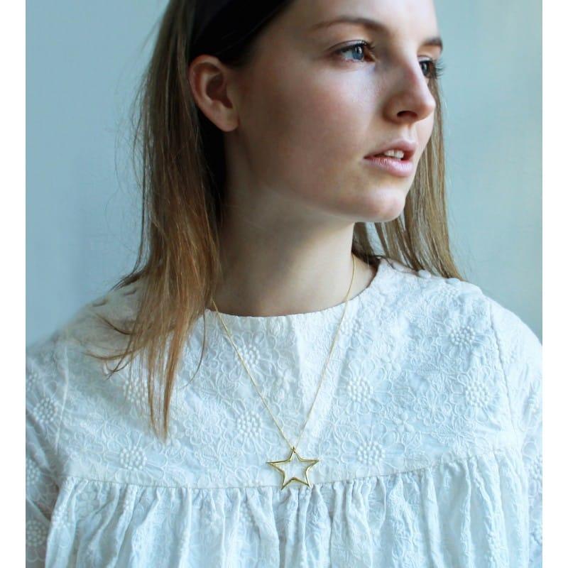 skewed-star-necklace-goldplated