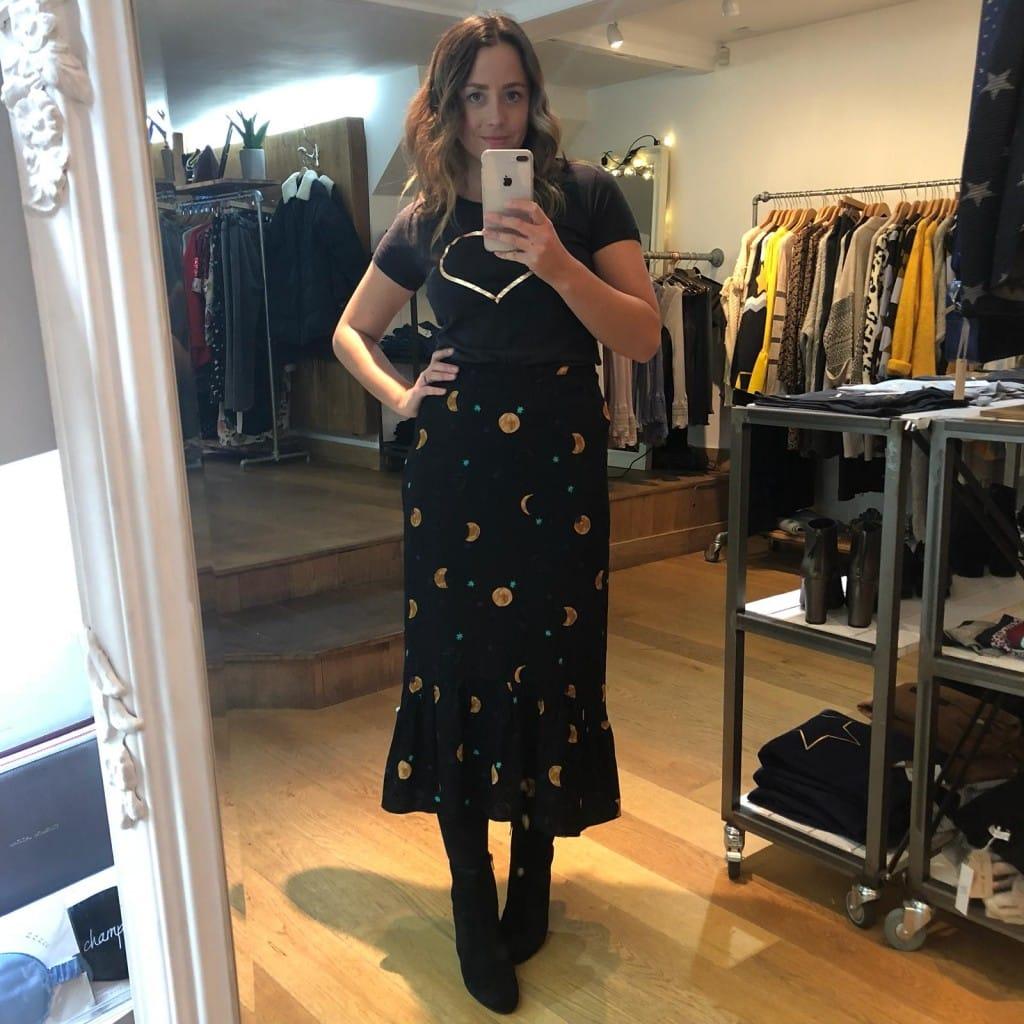 sophie in fabienne chapot skirt