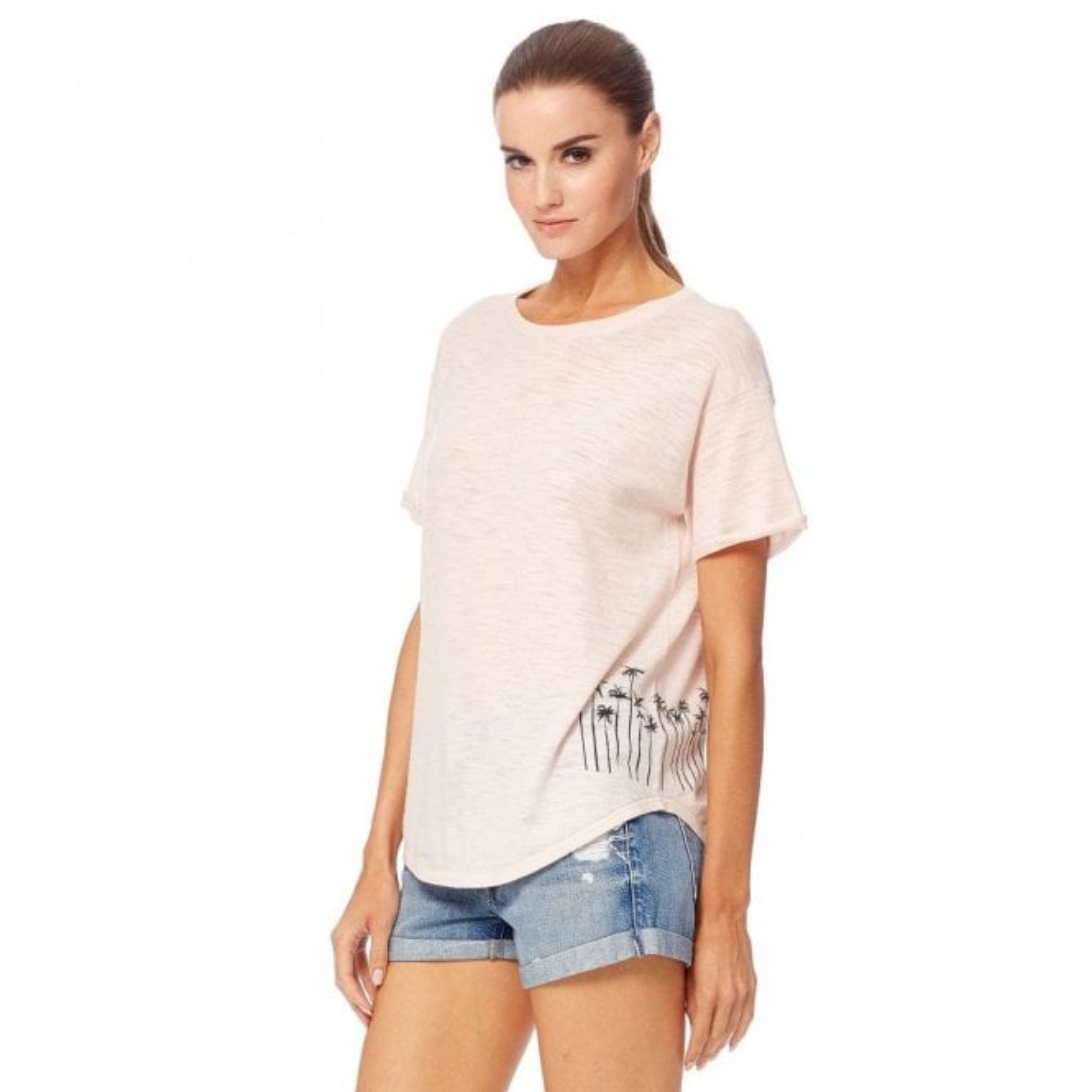 360 Sweater Marielle Cotton Slub T-Shirt in Ballet