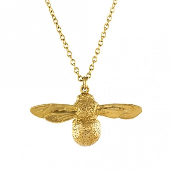 Alex Monroe Gold Plated Baby Bee Necklace