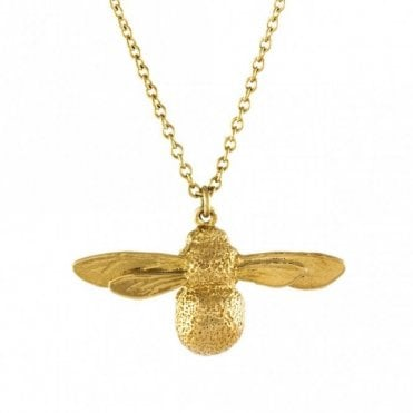 Gold Plated Baby Bee Necklace