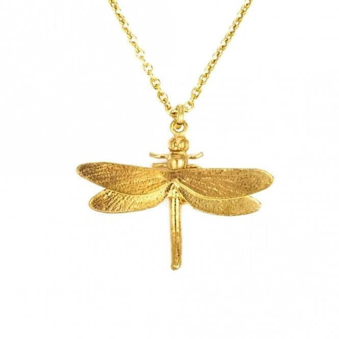 Alex Monroe Gold Plated Classic Dragonfly Necklace
