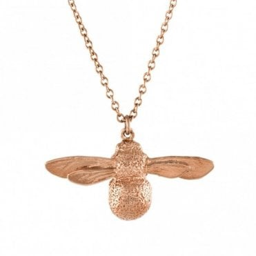 Rose Gold Plated Baby Bee Necklace
