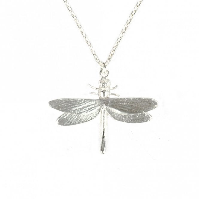 Alex Monroe Silver Classic Dragonfly Necklace