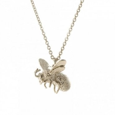 Silver Flying Bee Necklace