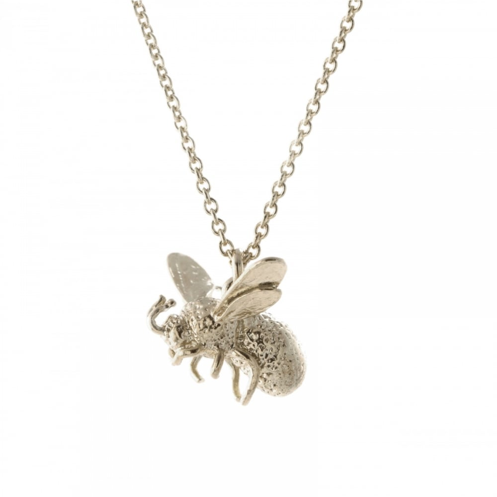 Alex Monroe Silver Flying Bee Necklace