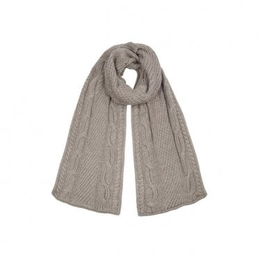 Alex Ribbed Scarf in Mink