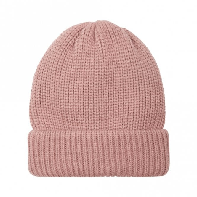 Alice Hannah Panna Rib Knit Beanie Hat in Rose