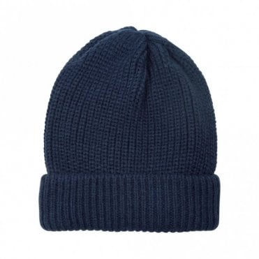 Panna Rib Knit Beanie in Night
