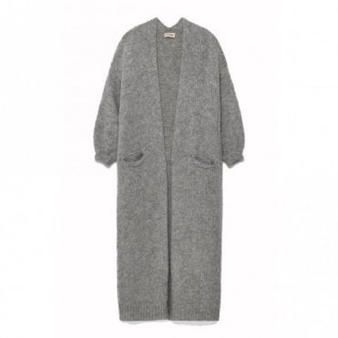 Boolder Long Cardigan in Mineral Melange