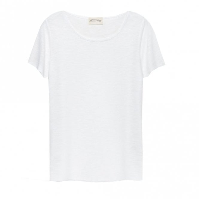 American Vintage Jacksonville Short Sleeve Round Neck Tee in White
