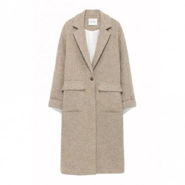 Topitown Coat in Beige Melange