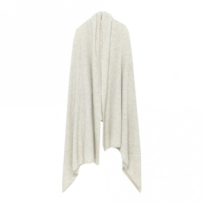 American Vintage Ulicity Oversized Ribbed Scarf in Heather Grey