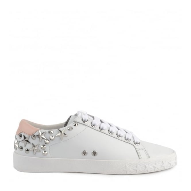 Ash Dazed Studded Trainers in White and Powder