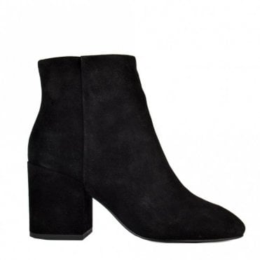 Eden Ankle Boots in Black Suede