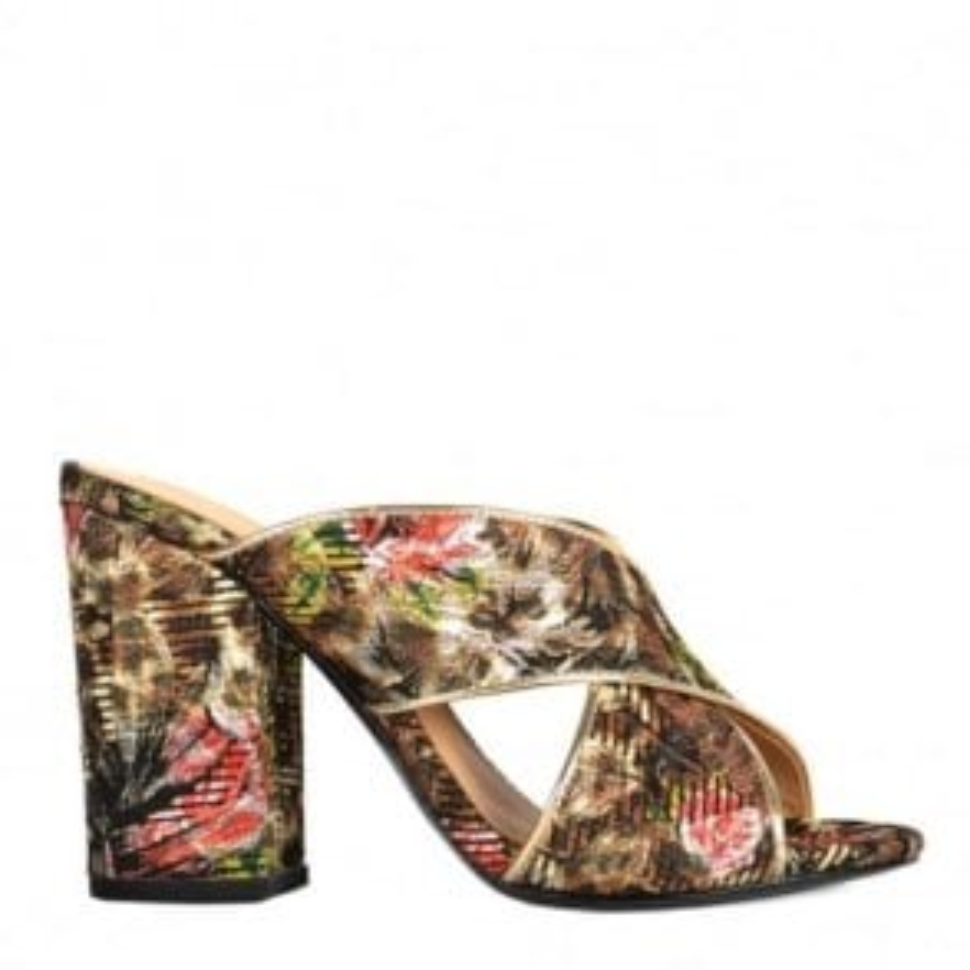 Ash Lolabis Block Heeled Sandals in Rose Leo
