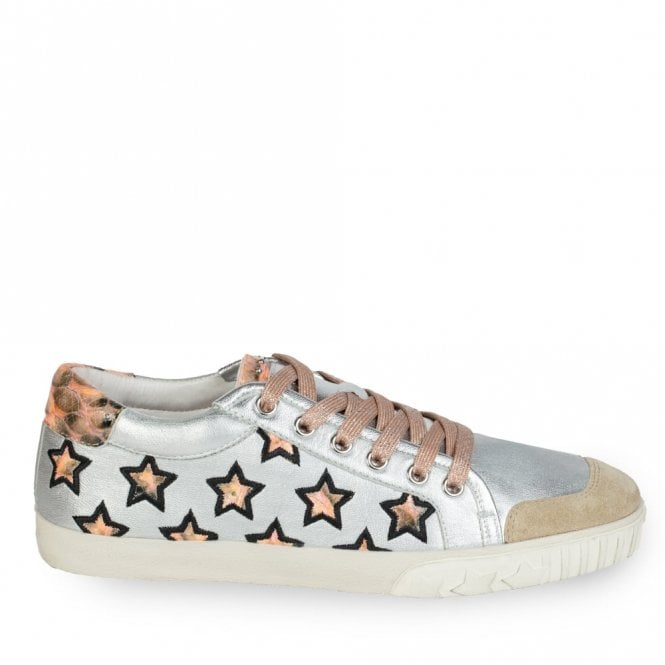 Ash Majestic Star Motif Trainers in Nude and Black