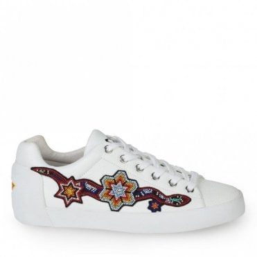 Namaste Bead Detail Trainers in White