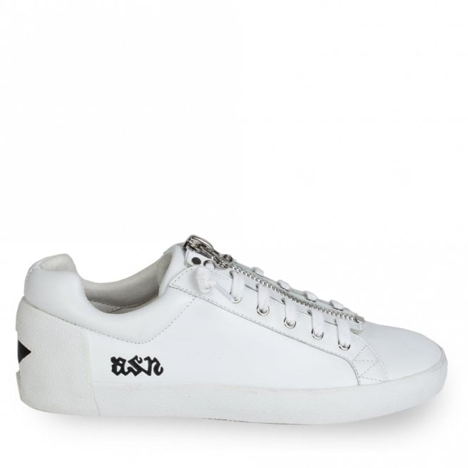 Ash Nirvana Zip Star Trainers in White and Black