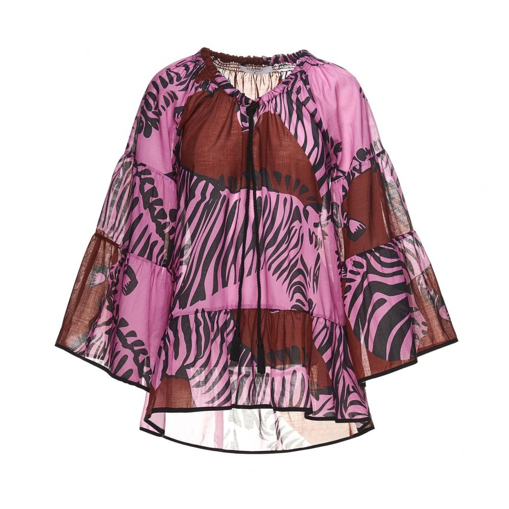1526eebe294f79 Beatrice B Zebra Blouse in Fuschia Pink - Clothing from Bod & Ted UK