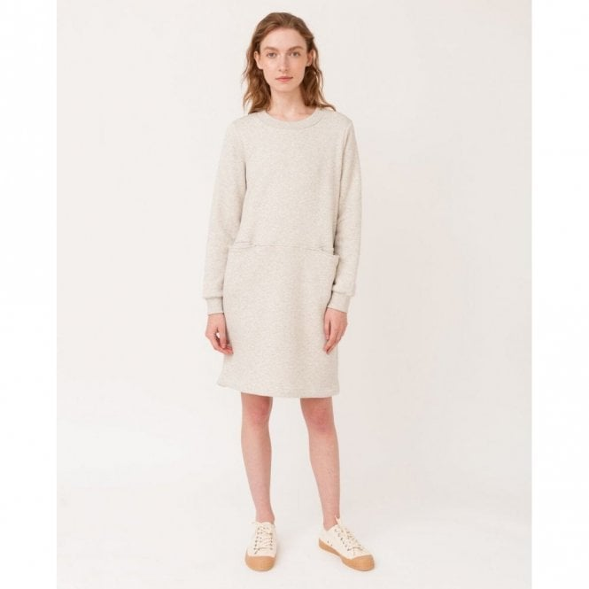 Beaumont Organic Alexis Organic Cotton Dress in Grey Marl