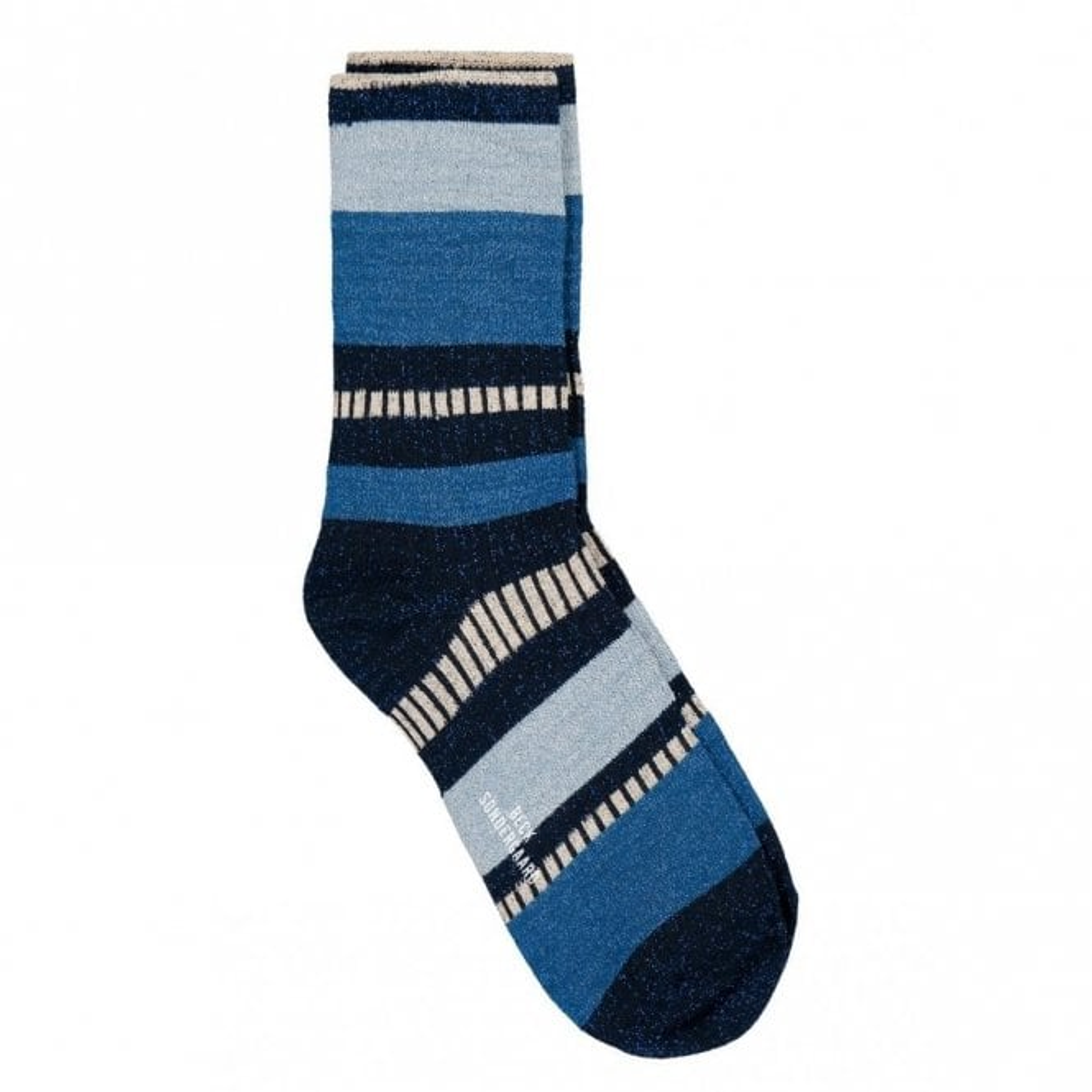 Becksondergaard Daphne Block Socks in Dusty Blue