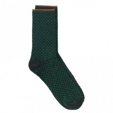 Dina Small Dots Collection Socks in Botanical Garden