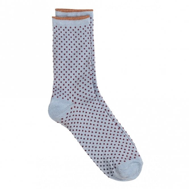 Becksondergaard Dina Small Dots Collection Socks in Chambray Blue