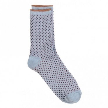 Dina Small Dots Collection Socks in Chambray Blue