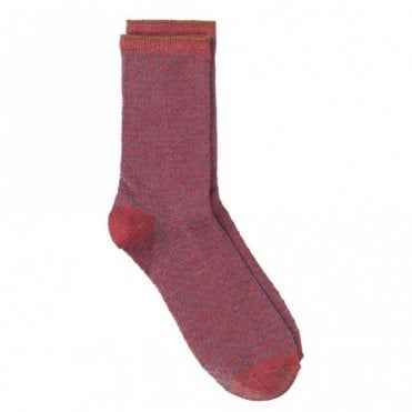 Dina Small Dots Collection Socks in Raspberry Wine