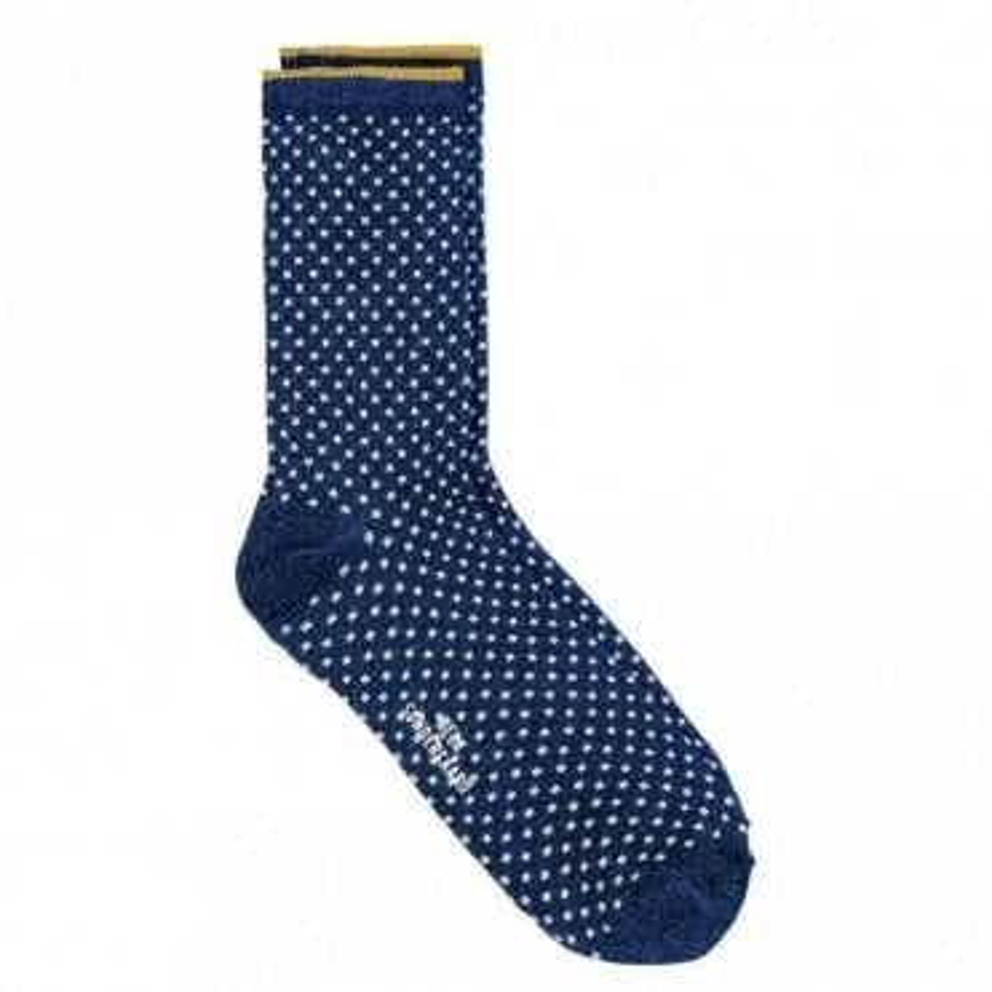 Dina Small Dots Socks in Twilight Blue