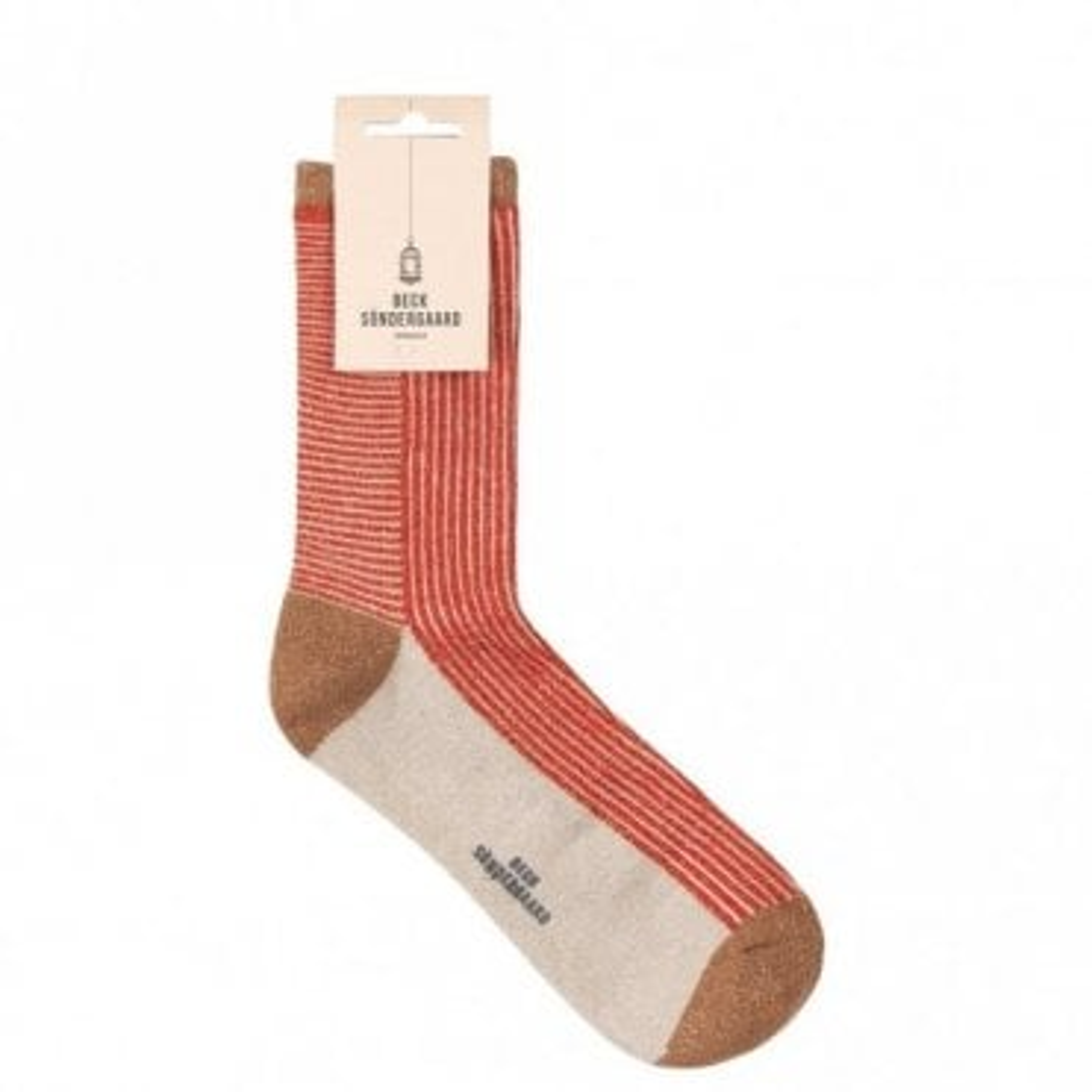 Dina Striped Socks in Cherry Tomato