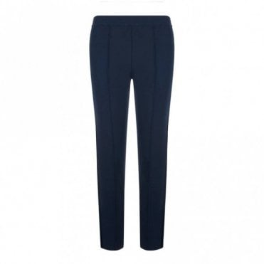 Cecile Velvet Stripe Trousers in French Navy
