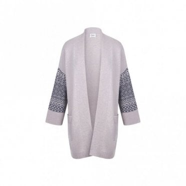 Syrie Cardigan in Dark Grey and Cement