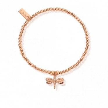 Cute Charm Dragonfly Bracelet in Rose Gold