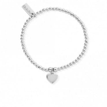 Cute Charm Heart Bracelet in Silver