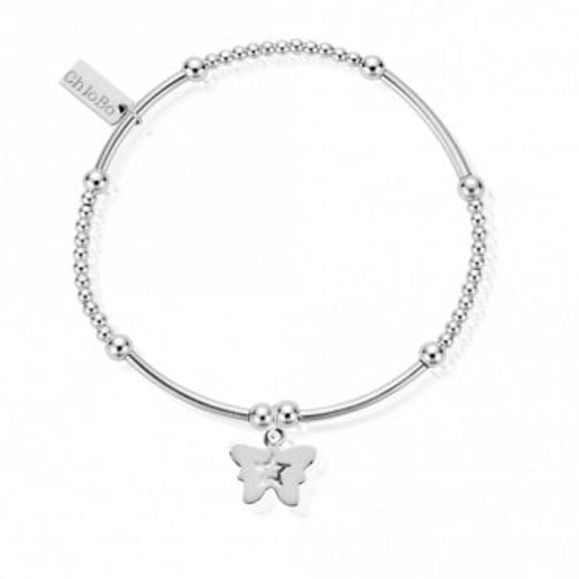 Cute Mini Butterfly Bracelet in Silver