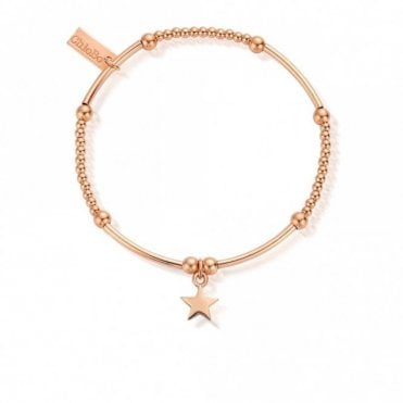 Cute Mini Star Bracelet in Rose Gold