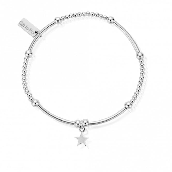 ChloBo Cute Mini Star Bracelet in Silver