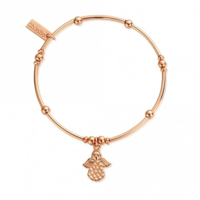 ChloBo Mini Noodle Made For An Angel Bracelet in Rose Gold