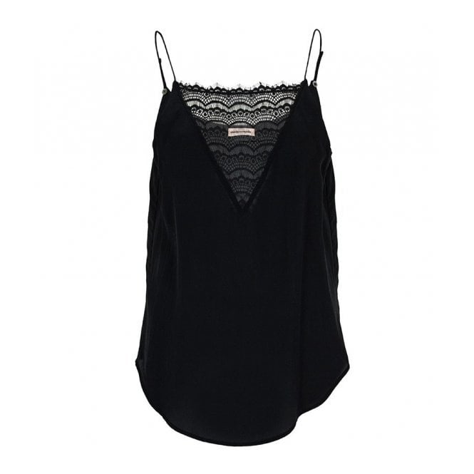 Custommade Elvira Lace Slip Top in Black