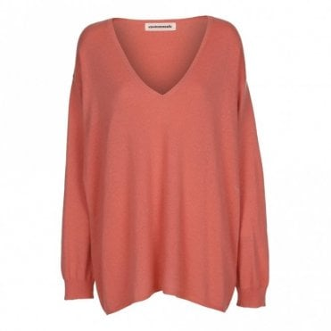 Siggie Cashmere Sweater in Tea Rose