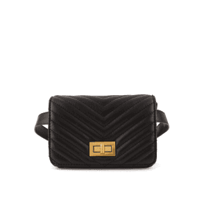 Essentiel Antwerp Rekiwi Quilted Shoulder Bag in Black