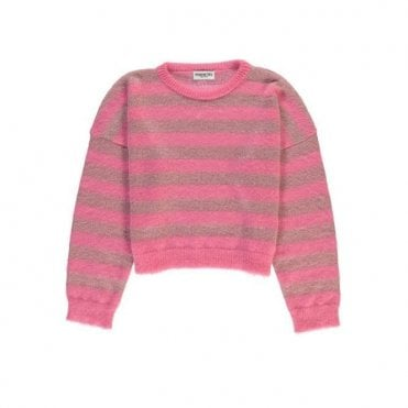 Remind Me Lurex Sweater in Bubblegum Pink