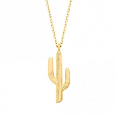 Cactus Gold Plated Necklace