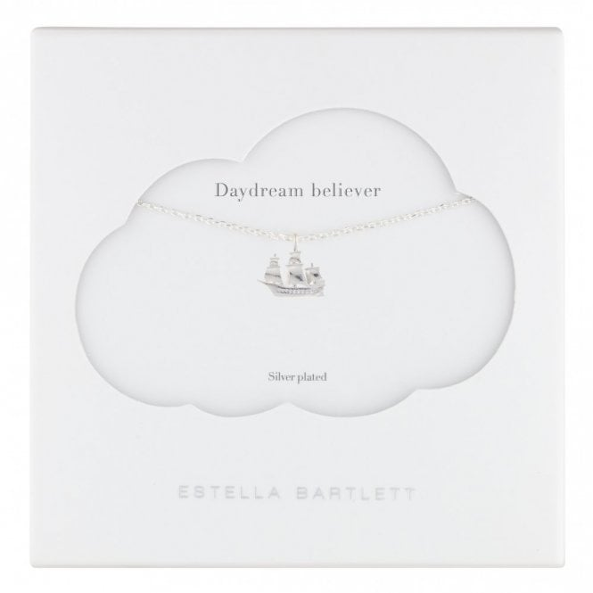 Estella Bartlett Daydream Believer Ship Silver Plated Necklace