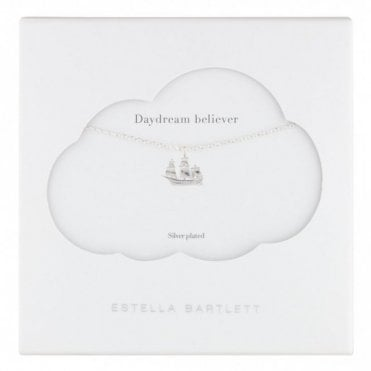 Daydream Believer Ship Silver Plated Necklace