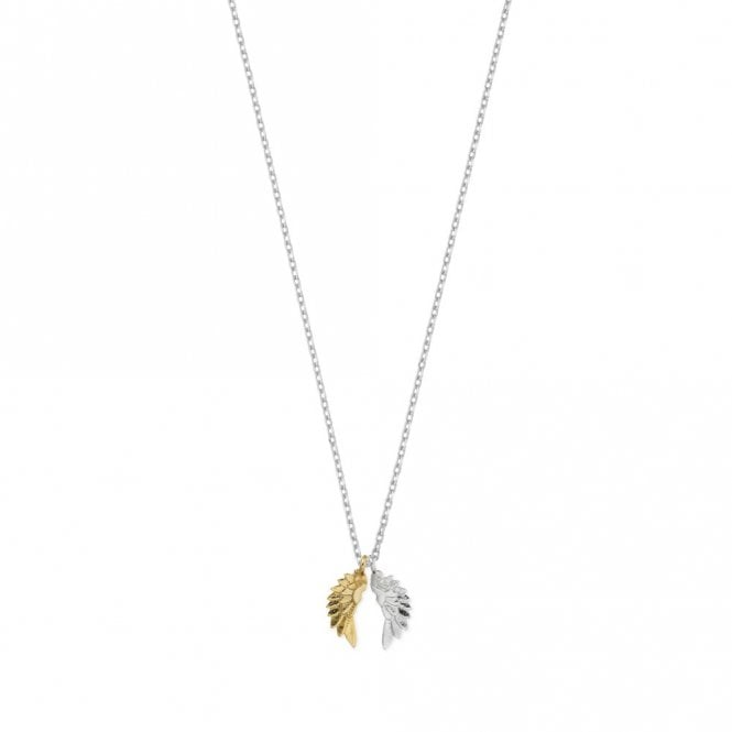 Estella Bartlett Gold and Silver Plated Wing Necklace