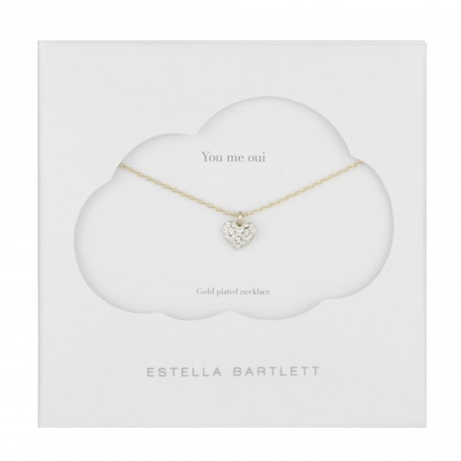 Estella Bartlett Little Bit of Sparkle Gold Plated Heart Necklace